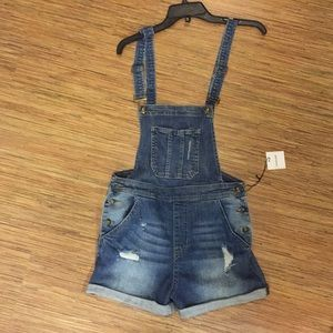 Over the Moon Overall Shorts